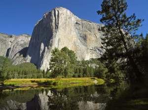 El Capitan and Merced River In Yosemite