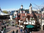 The view from the castle over Fantasyland